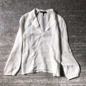 LAST CALL maje silk eggshell blouse